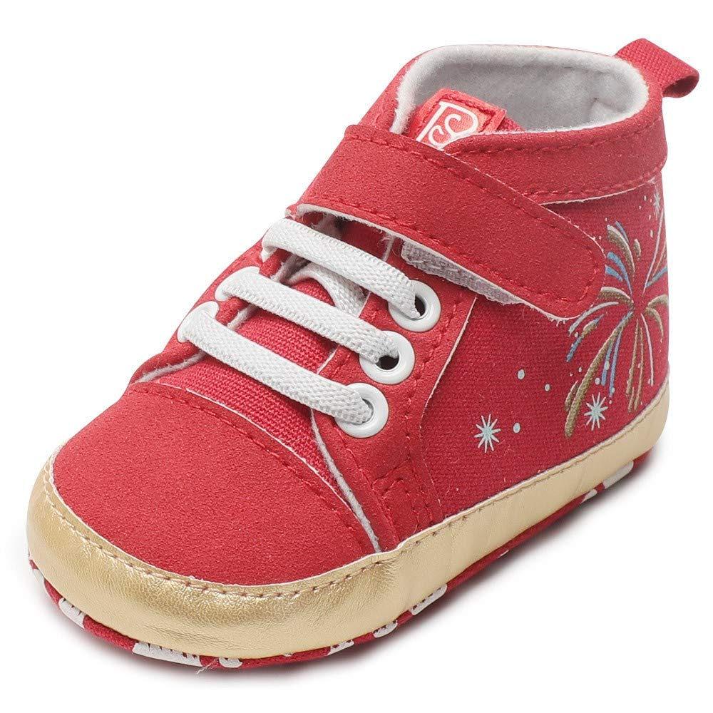 Cloudro Baby Soft Sole Boot Shoes,Infant Firework Star Canvas Shoes for Boy Girl