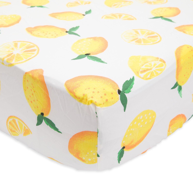 Little Unicorn Percale Crib Sheet - Lemon by Little Unicorn