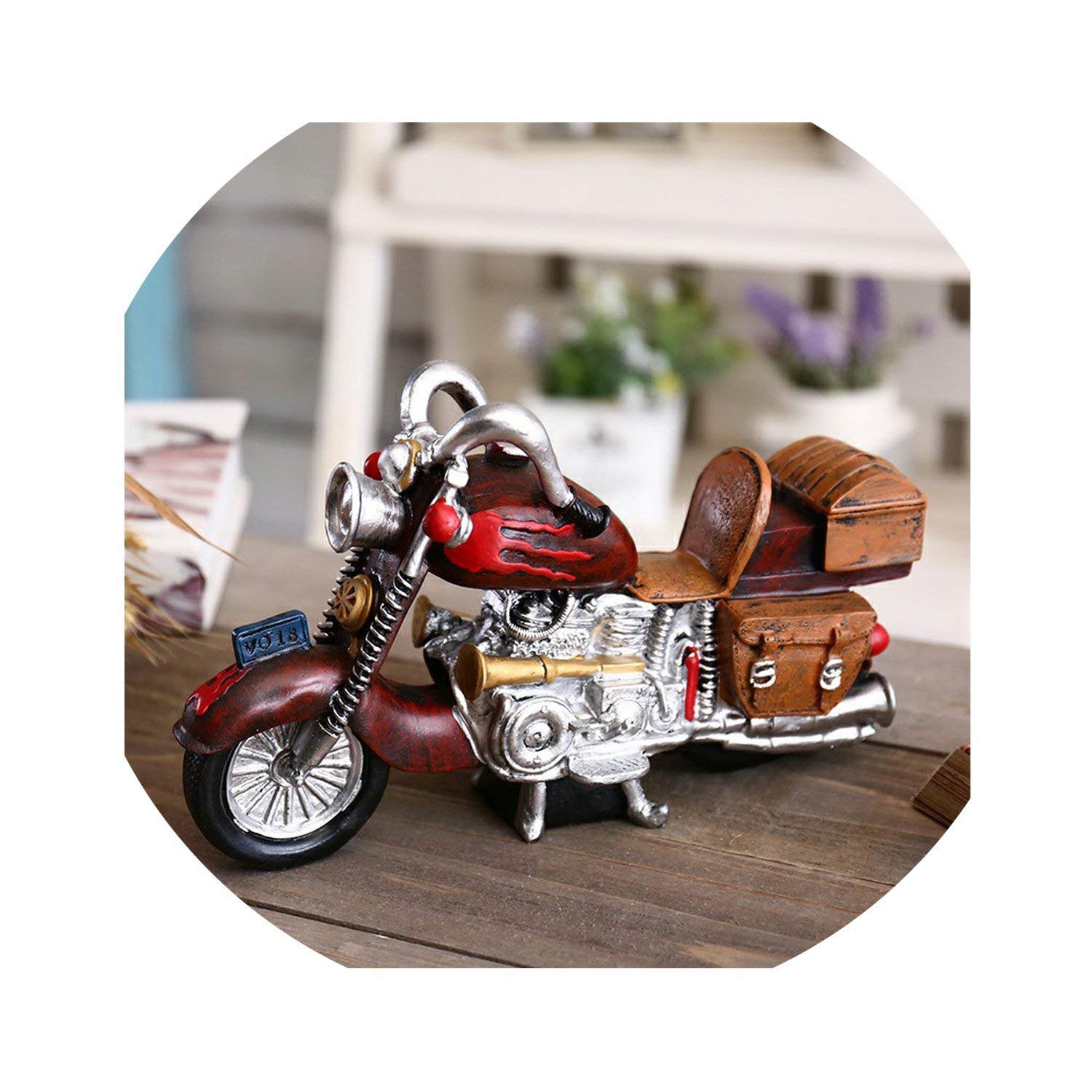 Fun Thing New Year Gift Motorcycle Figurine Piggy Bank Money Box Metal Coin Box Saving Box Home Decoration Crafts Gift for Kids,Motor Money Box Red by Goodbye-money bank