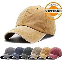 45a68b048c9d0 Unisex Vintage Washed Distressed Baseball-Cap Twill Adjustable Dad-Hat