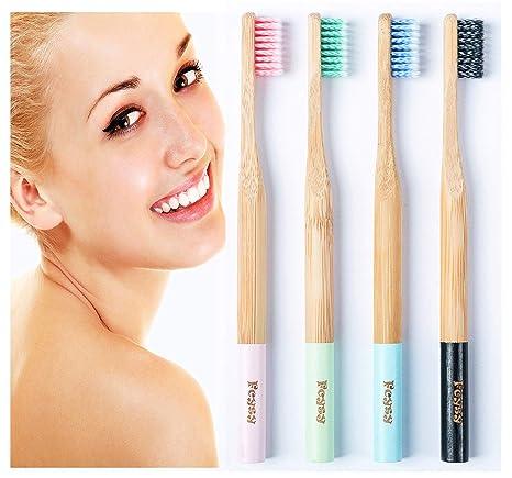 Amazon.com: Cepillo de dientes de bambú, orgánico ...