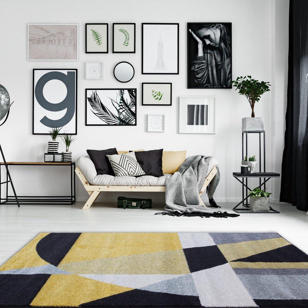 311 x 57 The Rug House Tapis de Salon Rio Orange Terre-Cuite Motif mosa/ïque Moderne g/éom/étrique de tuiles 120cm x 170cm