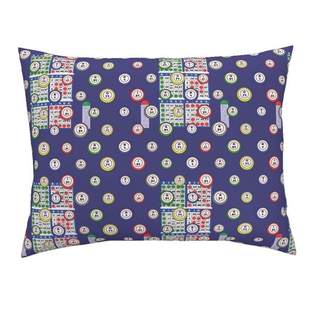 Roostery Bingo Standard Knife Edge Pillow Sham Bingo 6On by Dd BAZ Natural Cotton Sateen Made