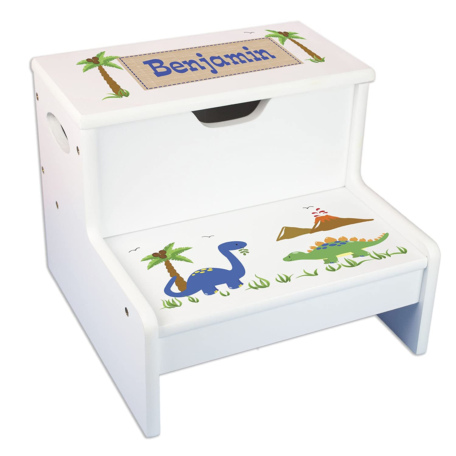 Outstanding Personalized Dinosaur Storage Step Stool Creativecarmelina Interior Chair Design Creativecarmelinacom