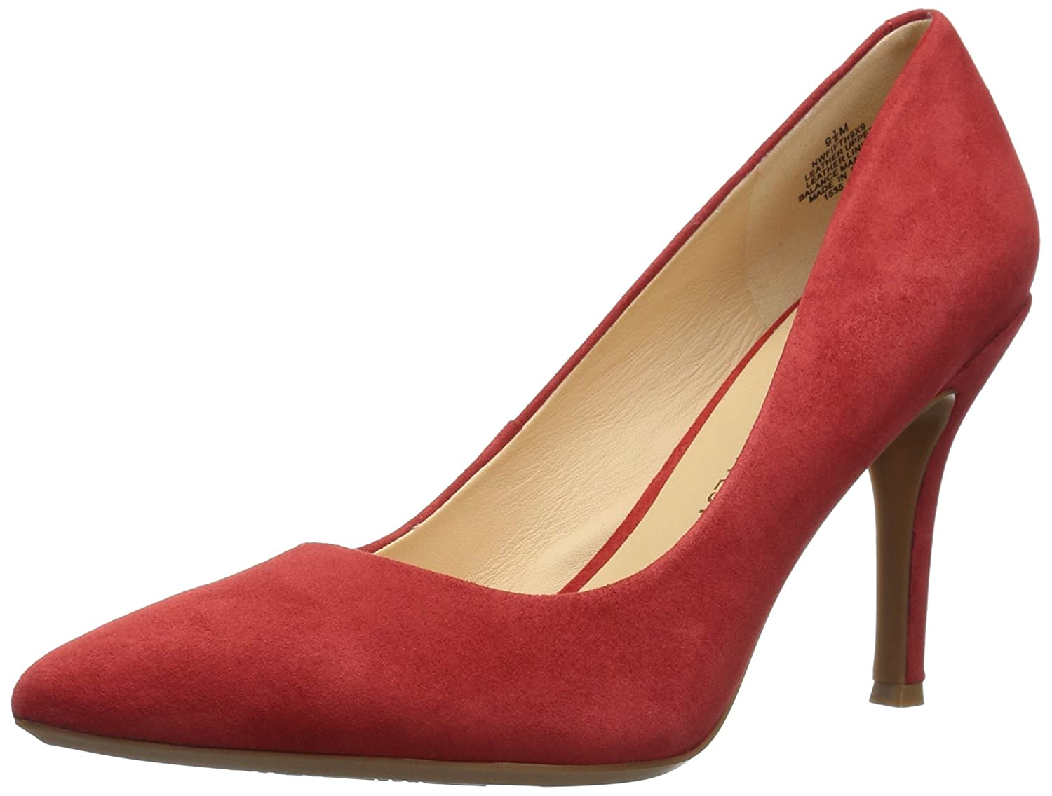 Nine West Women's FIFTH9X Fifth Pointy Toe Pumps B01MXTOAOK 9.5 B(M) US|Red Suede