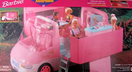 "Amazon.com: Barbie Autocaravana Traveling ""mágicas ..."