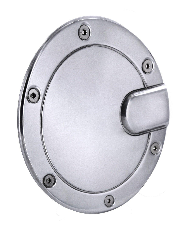 All Sales 6052CL Chrome Billet Aluminum Locking Fuel Door