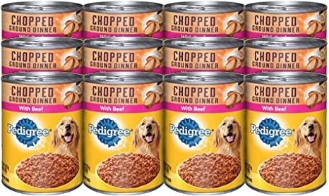 Best Canned Dog Food >> Pedigree Meaty Ground Dinner With Chopped Beef Canned Dog Food 13 2 Ounces Pack Of 24