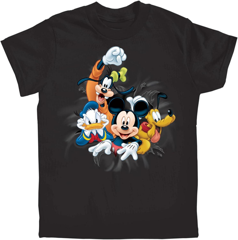 Disney Youth Boys T Shirt Fab Four Mickey Goofy Pluto Donald Navy X-Small