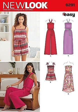 New Look 6291 Größe A Misses \'Jumpsuit und Kleid jeweils in 2 Längen ...