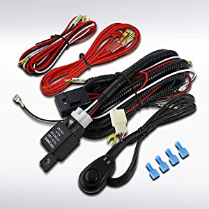 Autozensation 4X4 Off Road Working Fog Lights Lights Wiring Harness Switch Kit