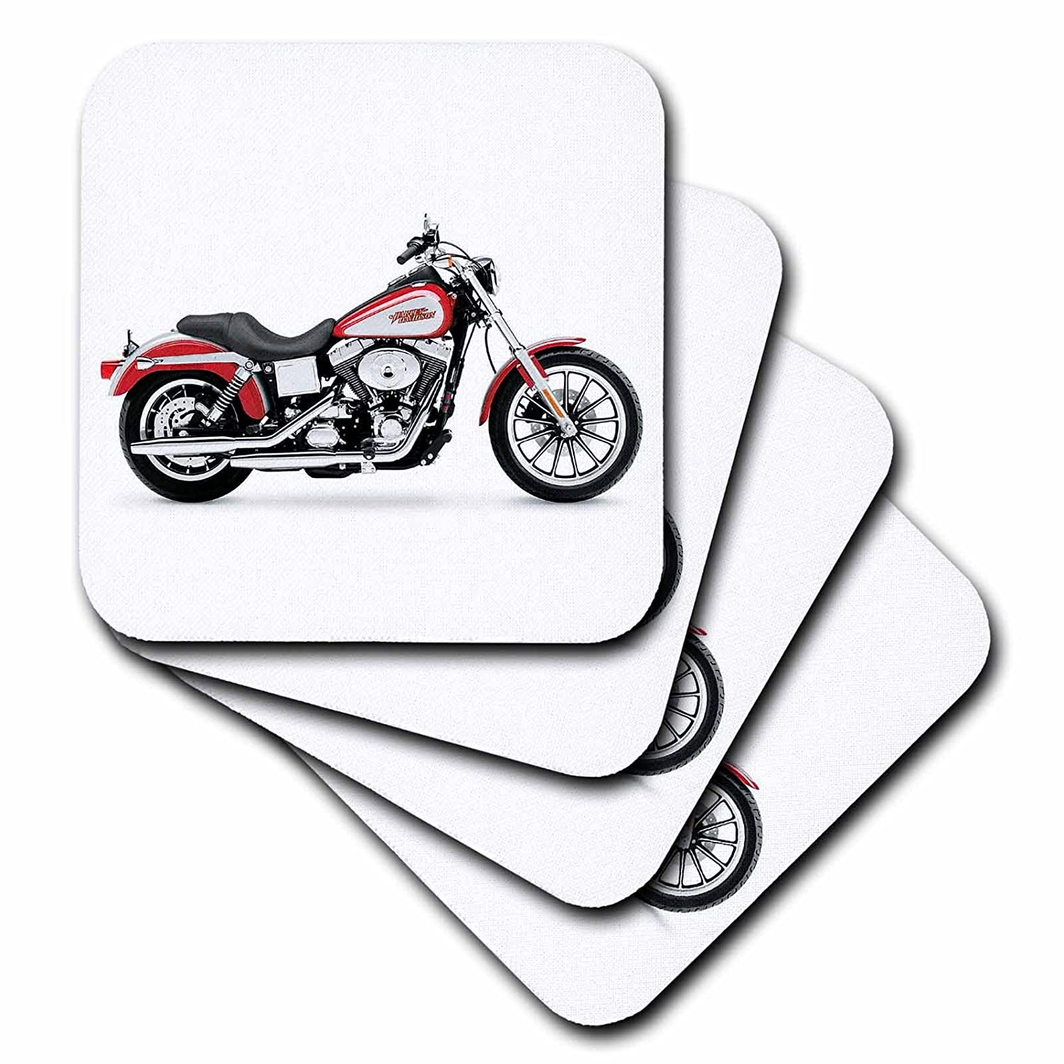 3dRose qs/_ 4842/_1 Quilt Square Picturing Harley-Davidson No.174 Motorcycle