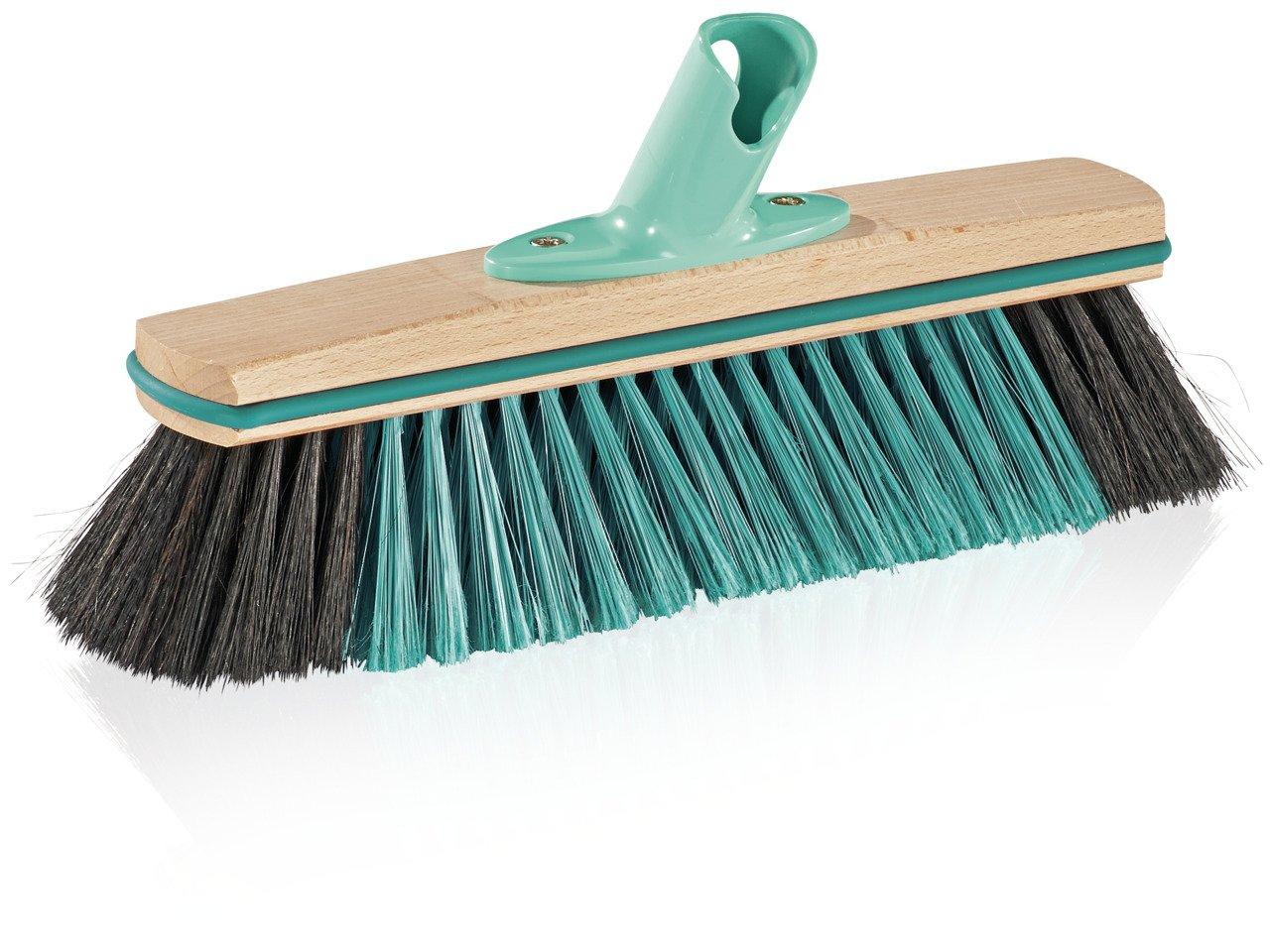 Leifheit Hard Floor Broom Xtra Clean Eco Plus 30 cm, Floor Broom, House Broom, Dustpan Brush, Wood / Mint Green, 45002 by Leifheit (Image #1)