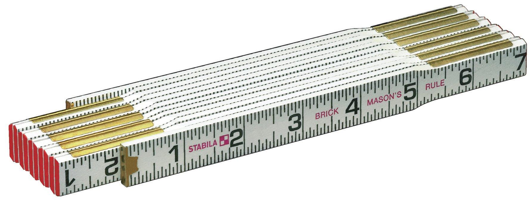 Stabila 80001 Type 600 Mason's (1/16ths - Both Edges - Outside) Folding Rules