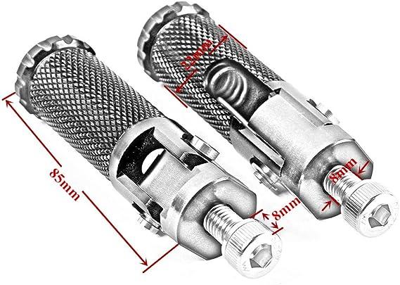 EBTOOLS 1 paire de p/édales ABS et fer moto moto repose-pieds repose-pieds pour CB125S CB100 CG125