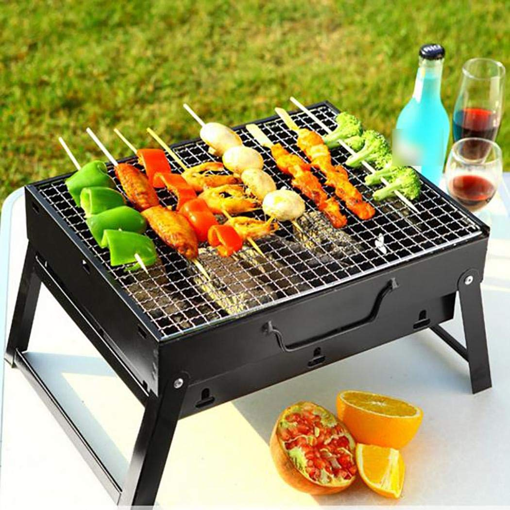 nurrat Portable Barbecue Grill Foldable Charcoal Barbecue Oven Outdoor BBQ Picnics Grill Stands & Shelves by nurrat