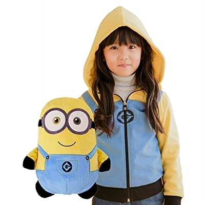 Cubcoats Bob The Minion - 2-in-1 Transforming Hoodie and Soft Plushie - Minion Yellow: Clothing