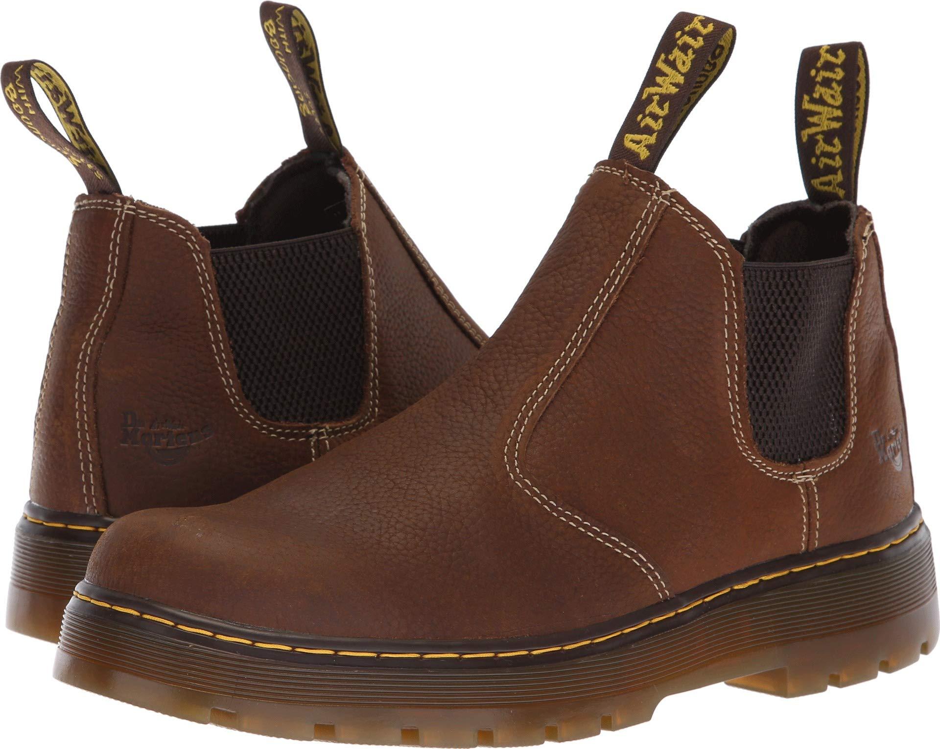 Dr. Martens Men's Hardie Boot, Whiskey, 7 Regular UK (8 US)