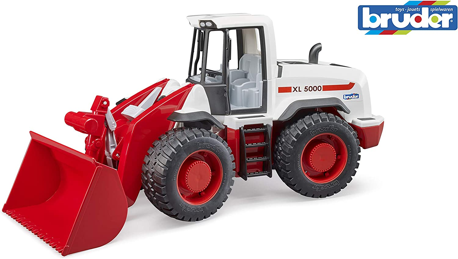 Bruder 03410 Front End Loader for Sandbox, Farm and Construction Pretend Play