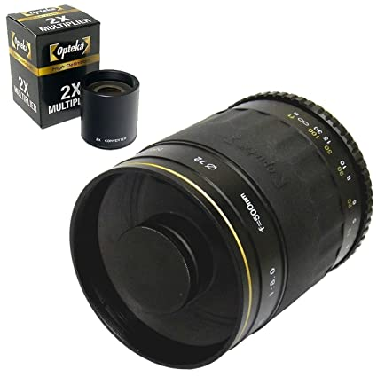 Opteka 500mm / 1000mm High Definition Mirror Telephoto Lens for Nikon D5,  D4s, D4, D3x, Df, D810, D800, D750, D610, D500, D7500, D7200, D7100, D5600,