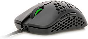 HK Gaming Mira S Ultra Lightweight Honeycomb Shell Wired Gaming Mouse - 6 Buttons - 61g (12 000 cpi, Black)