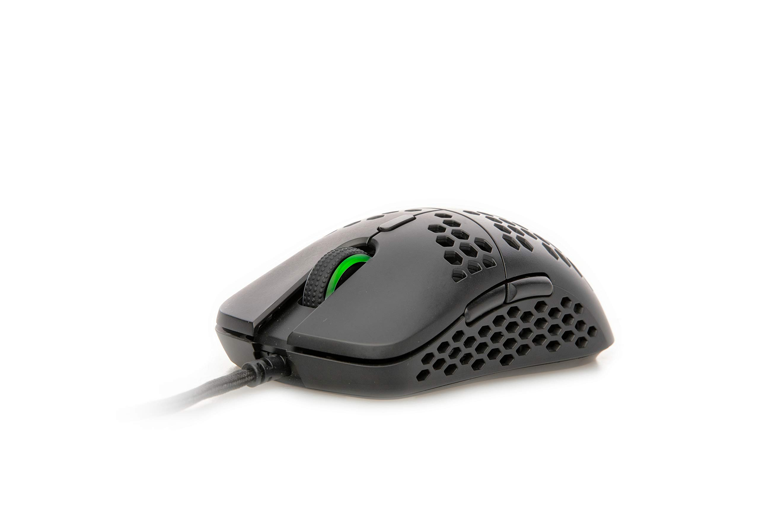 HK Gaming Mira S Ultra Lightweight Honeycomb Shell Wired RGB Gaming Mouse - Up to 12 000 cpi | 6 Buttons - 61g Only ( Mira-S , Black )