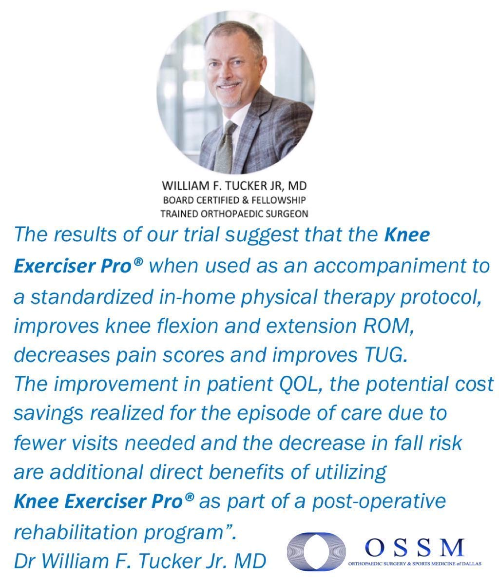 Knee Exerciser Pro-Single Pulley: Knee Replacement Therapy - Knee Replacement - Range of Motion Aide. by Knee Exerciser Pro