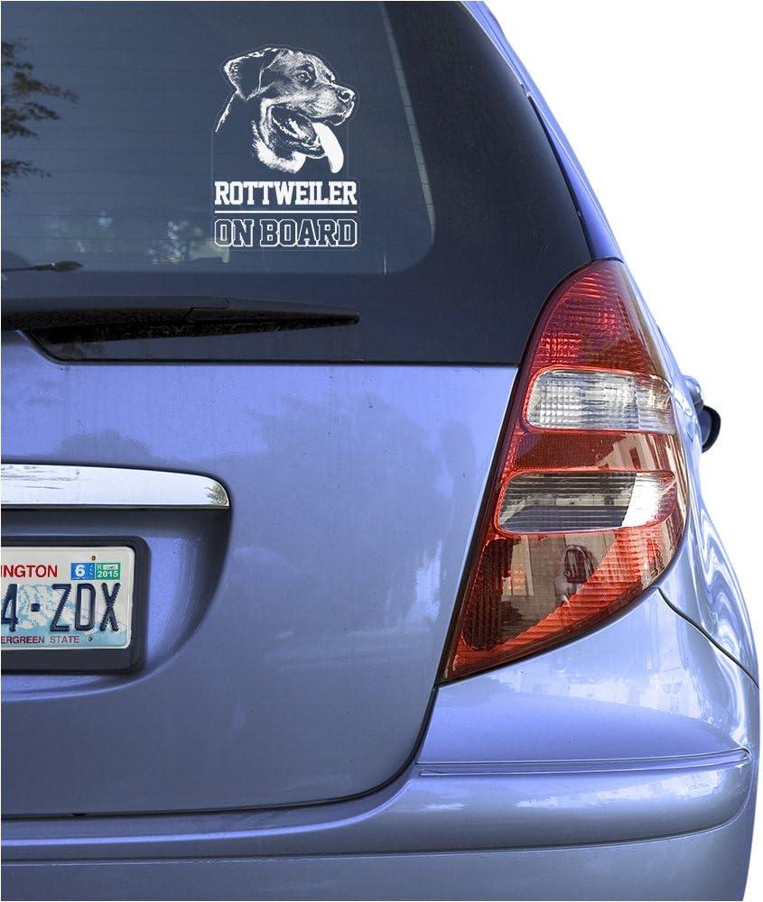 Rottweiler Rottie Grandma Dog Decal Sticker for Car Window 8 Inch BG 561