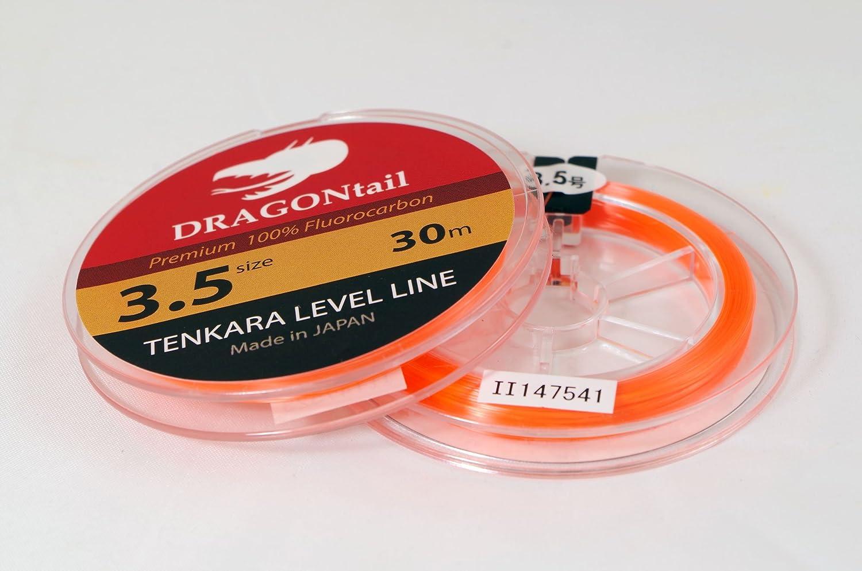 DRAGONtail Tenkara Level Line 30m Hi-Vis Orange