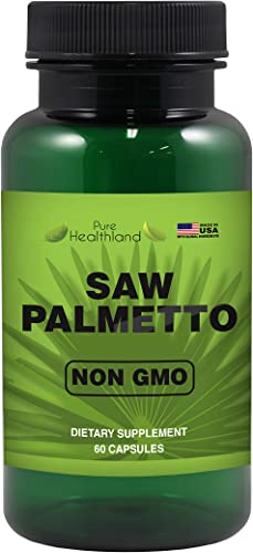 Reduce Frequent Urination Non-GMO Saw Palmetto Supplement Capsules Support Men s Prostate Health – High Quality Potency 500mg Prostate Support Formula – Made in USA