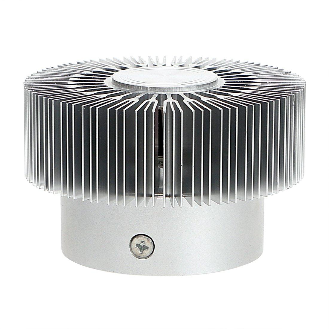 2 Pcs Lamker Ba/ñadores LED de Pared 3W RGB Moderna Aluminio L/ámpara Apliques Hueca Cilindro Techo de techo para Pasillo del pasillo del dormitorio Sala con Control Remoto