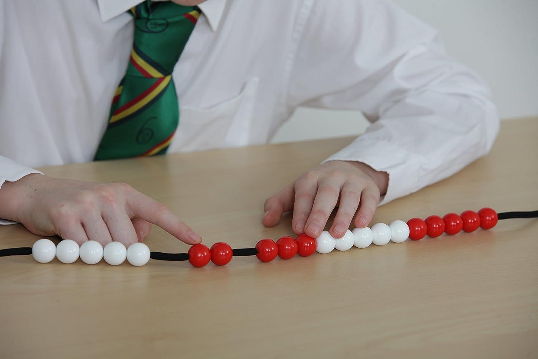 Red /& White EDX Education 53973 Teacher 20 Beadstring-18mm Bead