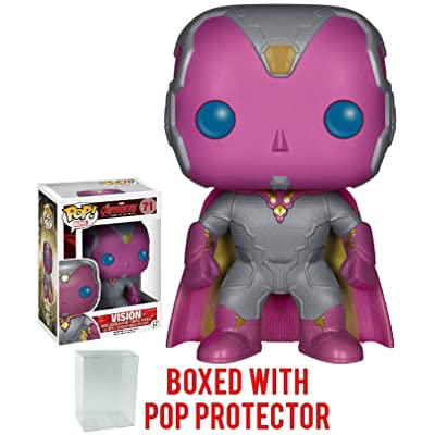 Funko Pop! Marvel: Avengers 2 Age of Ultron - Vision Vinyl Figure (Bundled with Pop Box Protector CASE): Toys & Games