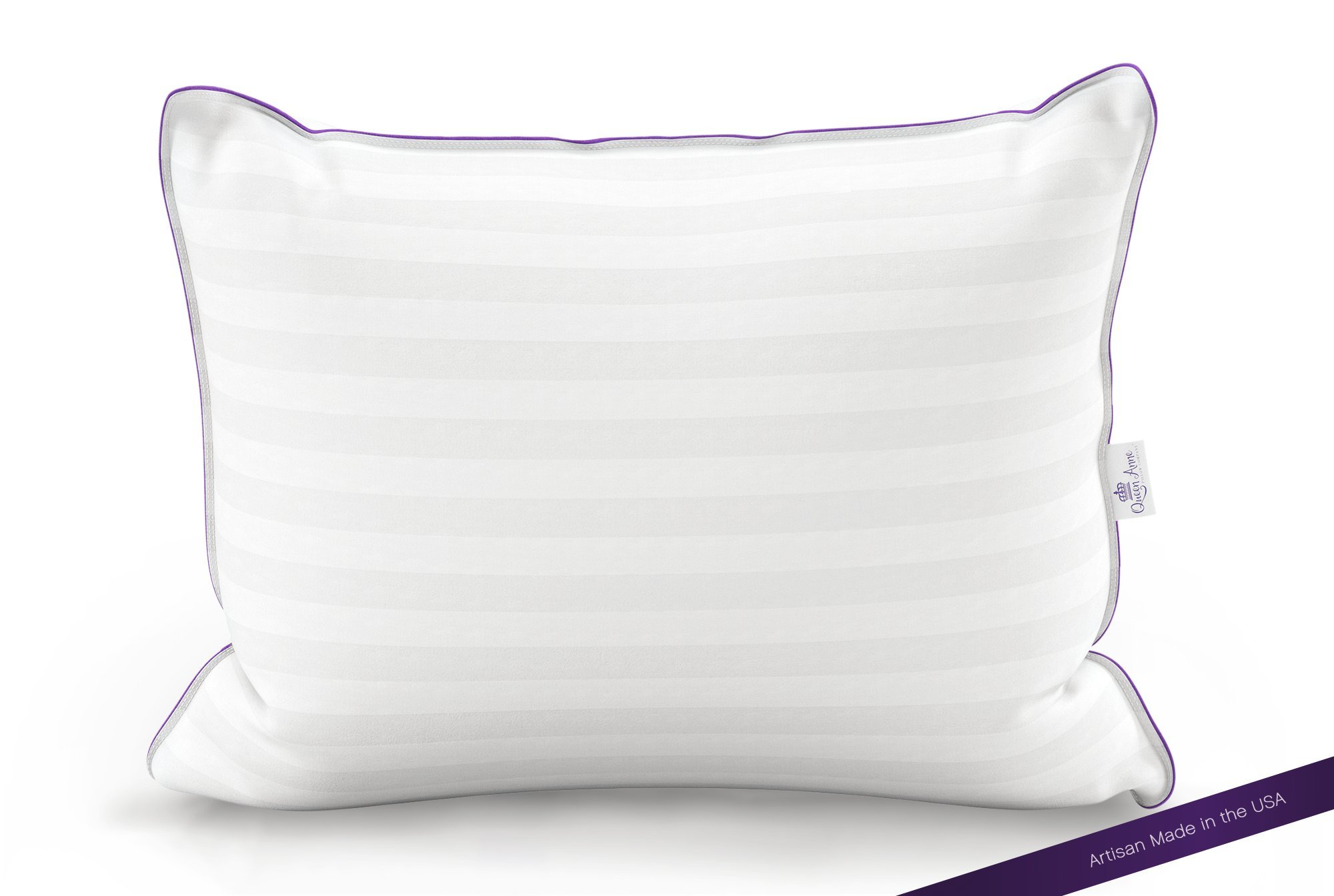 The Original Queen Anne Pillow - French Goose Down Luxury Pillow - Hotel Collection - Made in USA (Queen Size, Soft Fill) by Queen Anne Pillow Company