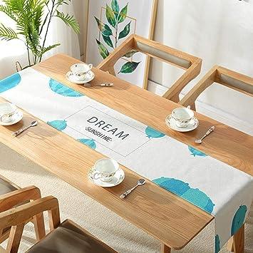 Aoligei Tischlaufer Baumwolle Und Leinen Moderne Gewebestreifen Tv