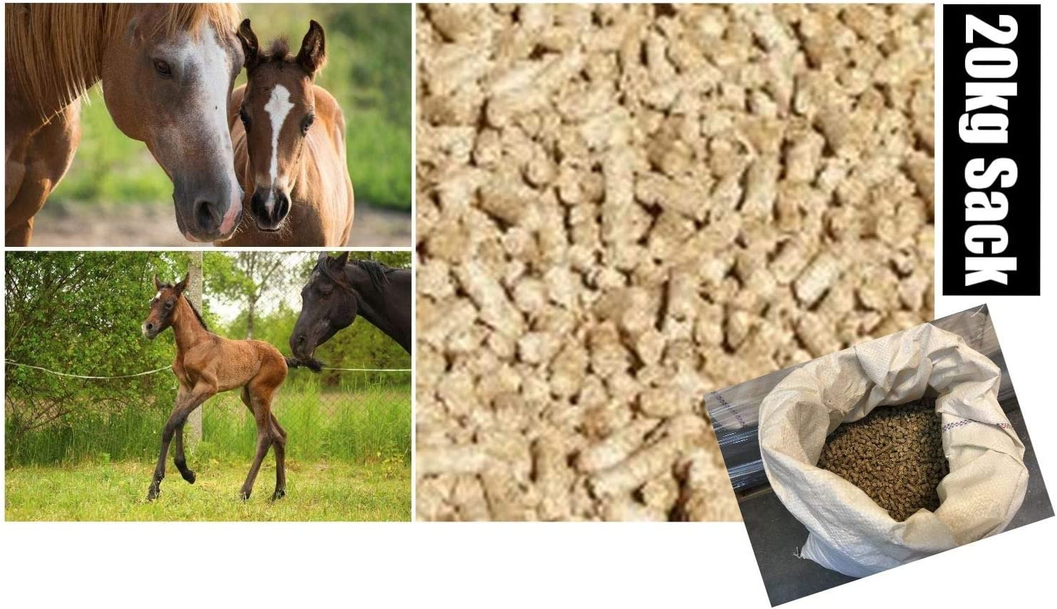 Daydream Feelino® - Saco de 20 kg de pellets para animales grandes de Miscanthus – Sustrato para caballos, alpacas, ovejas, etc. – en lugar de paja o virutas de sierra