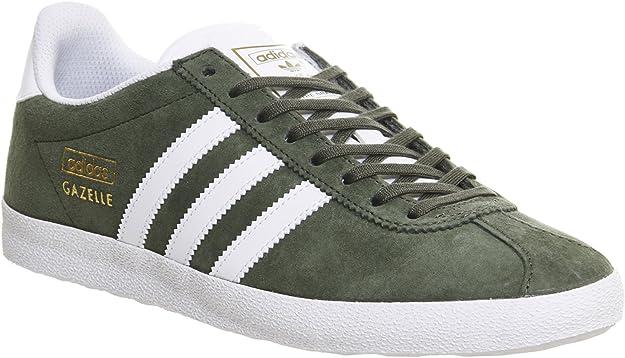 adidas Gazelle Og Base Green White Metallic Gold - 7.5 UK: Amazon ...