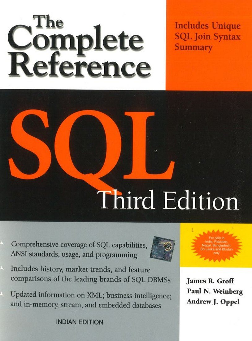 SQL The Complete Reference, 3rd Edition: Paul James Groff: 9781259003882:  Amazon.com: Books