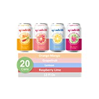 Spindrift Sparkling Water, 4 Flavor Variety Pack, Made with Real Squeezed Fruit,...