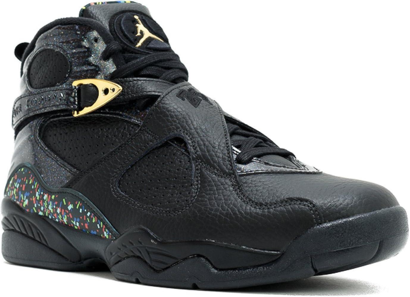 Nike Mens Air Jordan 8 Retro C\u0026C Black