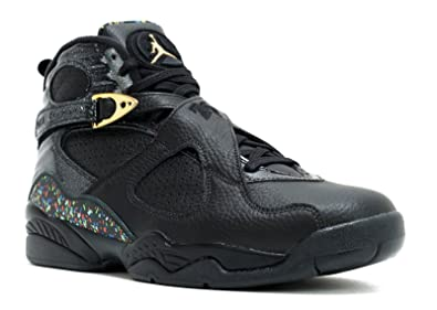 Nike Mens Air Jordan 8 Retro C&C Black/Metallic Gold Leather Size 8