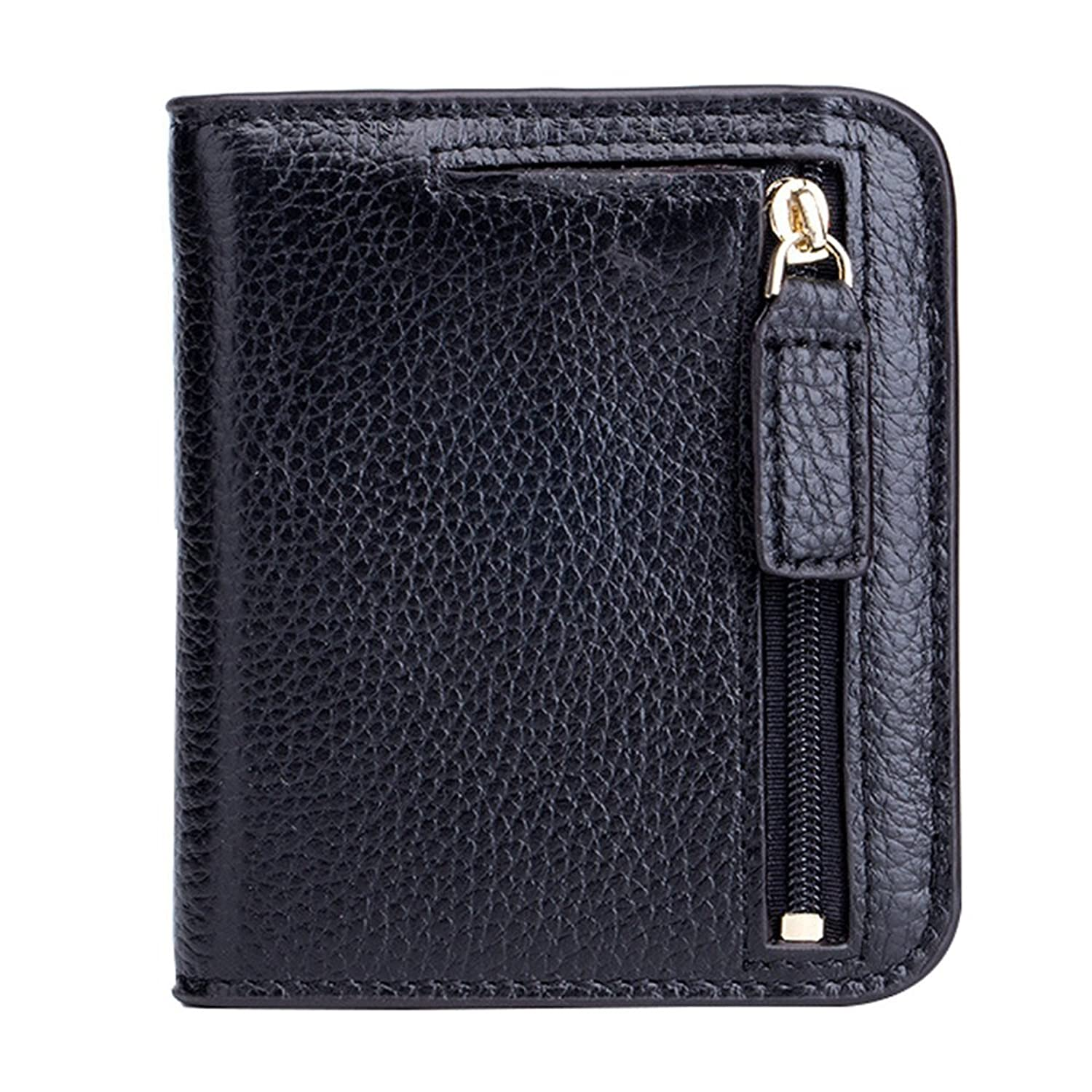 Aladin Ladies Small Bifold Wallet with Coin Purse - Oiled Waxed Leather