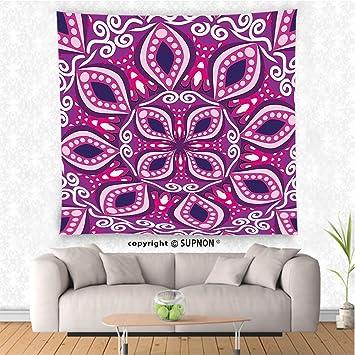 Amazon.com: VROSELV custom tapestry Floral Tapestry Trippy Flower ...