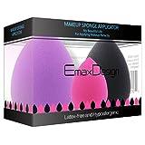 [Updated Version] EmaxDesign 3 Piece Makeup Blender Sponge Set, Foundation Blending Blush Concealer Eye Face Powder Cream Cosmetics Beauty Makeup Sponges. latex free, non-allergenic and odour free. (Color: Ivory)