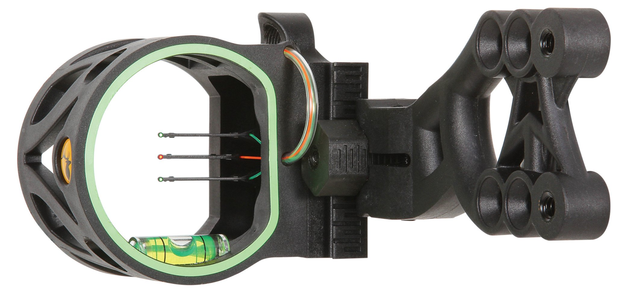 Trophy Ridge Mist Sight with Green Hood Accent for Quicker Sight Acquisition and Reversible Mount Design for Use with Left and Right-hand Bows