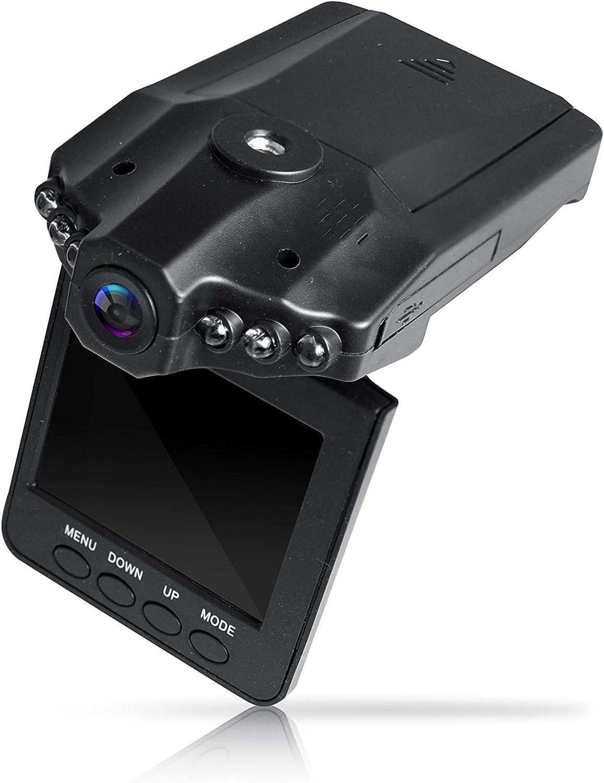 Black Coby DCS-404 2.5-Inch Swivel Screen 1080p Car Dash Cam and DVR Box