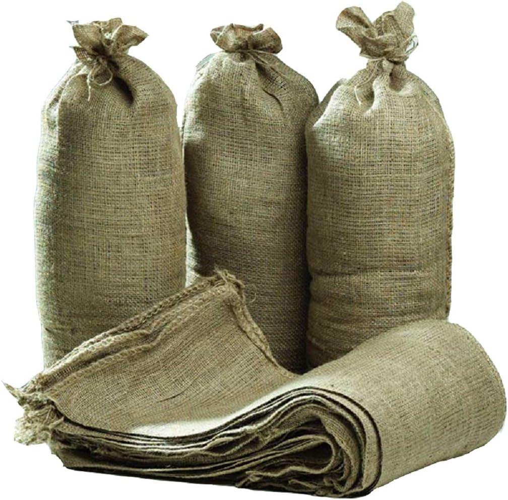 en toile de jute Sacs de sable avec liens Bague 750/x 325/mm Flood protection Sack Qt/é remises