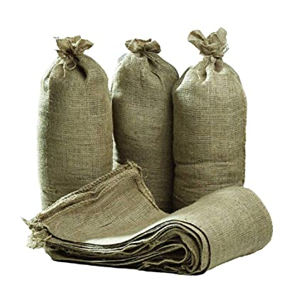 e46ff4e7ba1 Hessian Sand Bags with Ring Ties 750x325mm (Qty Discounts) Flood Protection  Sack (10)  Amazon.co.uk  DIY   Tools