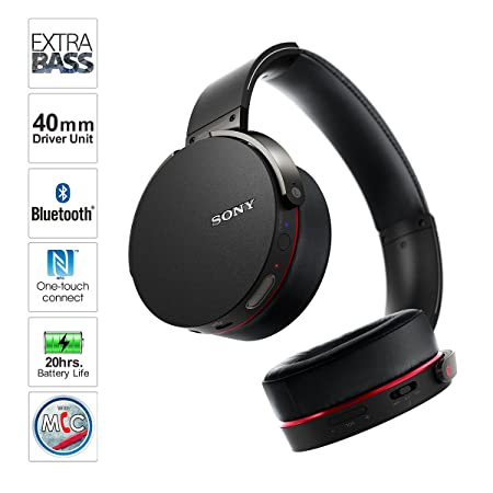 sony tv ears. amazon.com: sony mdrxb950bt/b extra bass bluetooth headphones (black): home audio \u0026 theater tv ears b