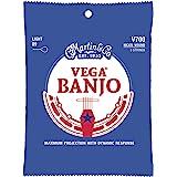 Martin Guitar Vega Banjo Strings V700, Light-Gauge Nickel-Wound Banjo Strings